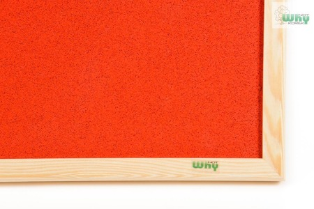 Tablica korkowa barwiona w ramie drewnianej 120x180 cm