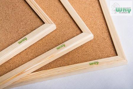 Tablica korkowa w ramie drewnianej 40x50 cm