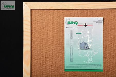 Tablica korkowa w ramie drewnianej 40x60 cm