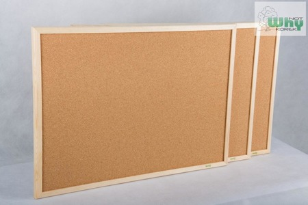 Tablica korkowa w ramie drewnianej 50x120 cm