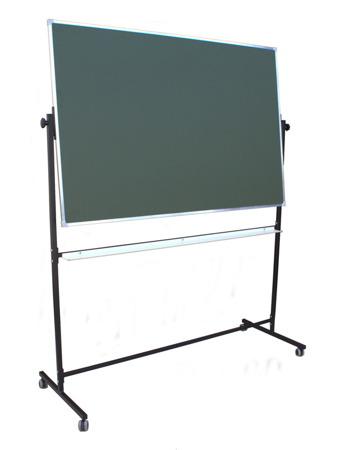 Tablica magnetyczno-suchościeralna w ramie aluminiowej 100x150 cm na stojaku zielona