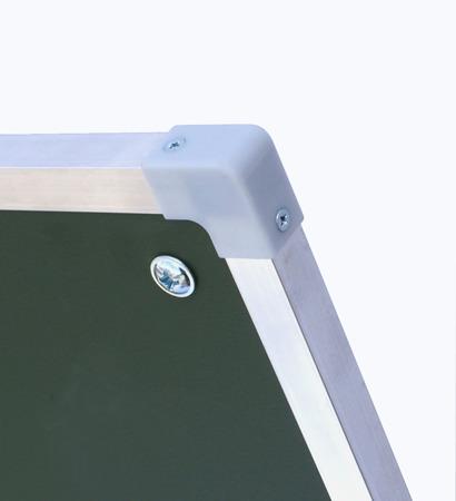 Tablica magnetyczno-suchościeralna w ramie aluminiowej 100x170 cm na stojaku biało-zielona