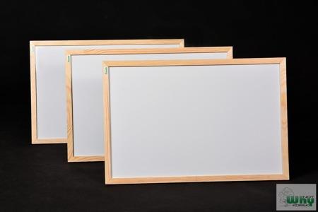 Tablica magnetyczno-suchościeralna w ramie drewnianej 60x80 cm