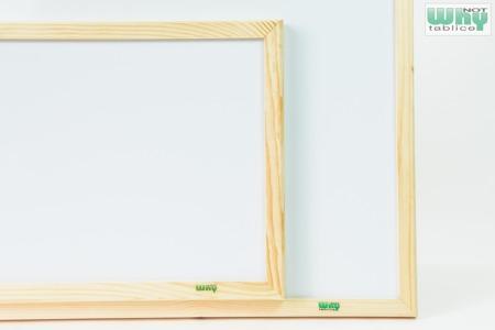 Tablica magnetyczno-suchościeralna w ramie drewnianej 90x120 cm